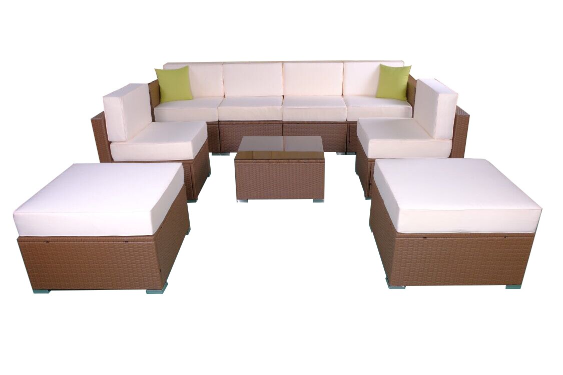 Mcombo Mcombo Patio Furniture Sectional Sets Wicker Rattan Couch