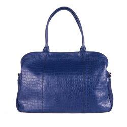 YULEE摩登休閒系列-手提袋  藍色動物紋大型休閒包