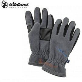 [ WILDLAND 荒野 ] 中性防風保暖翻指手套 中灰色 / 0A32003-92