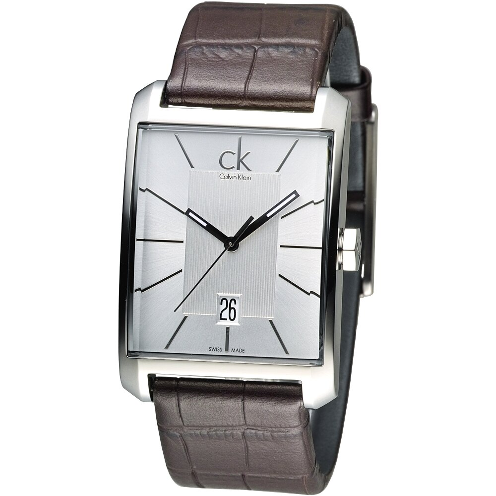 CK 紳士任務型男時尚錶-咖啡(K2M21126)
