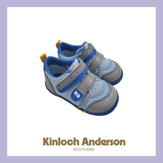 【金安德森】寶寶休閒學布鞋(藍)