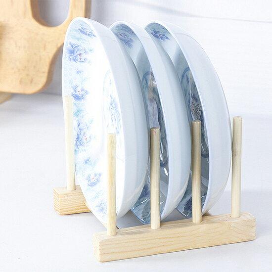 ♚MY COLOR♚實木瀝水碗碟架 菜盤 杯子 收納 置物 瀝乾 廚房 通風 衛生 組裝 書架【F67】