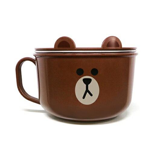 LINE 不鏽鋼湯杯(附蓋子)750ml-熊大(3歲以上) _好窩生活節 0