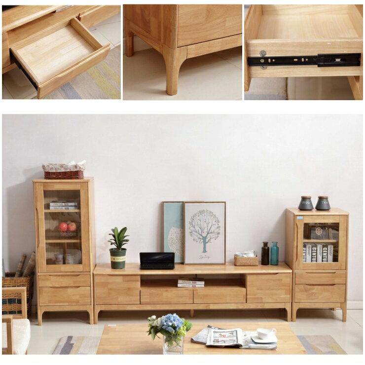 電視櫃 北歐全實木電視櫃