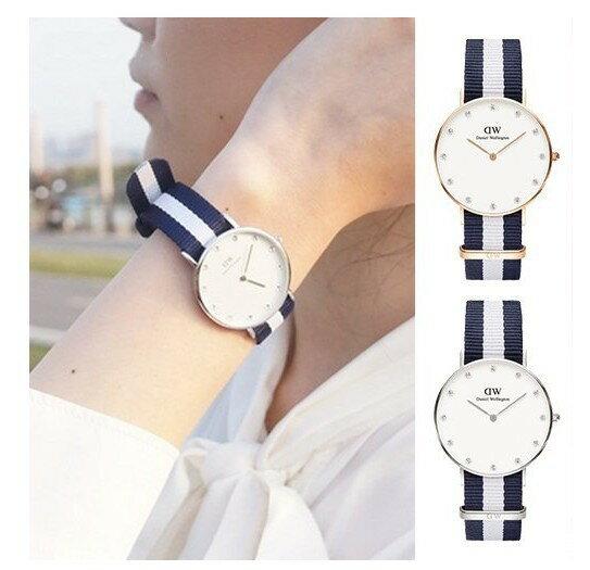 瑞典正品代購 Daniel Wellington 0953DW  玫瑰金 尼龍 帆布錶帶 女錶手錶腕錶 26MM 1