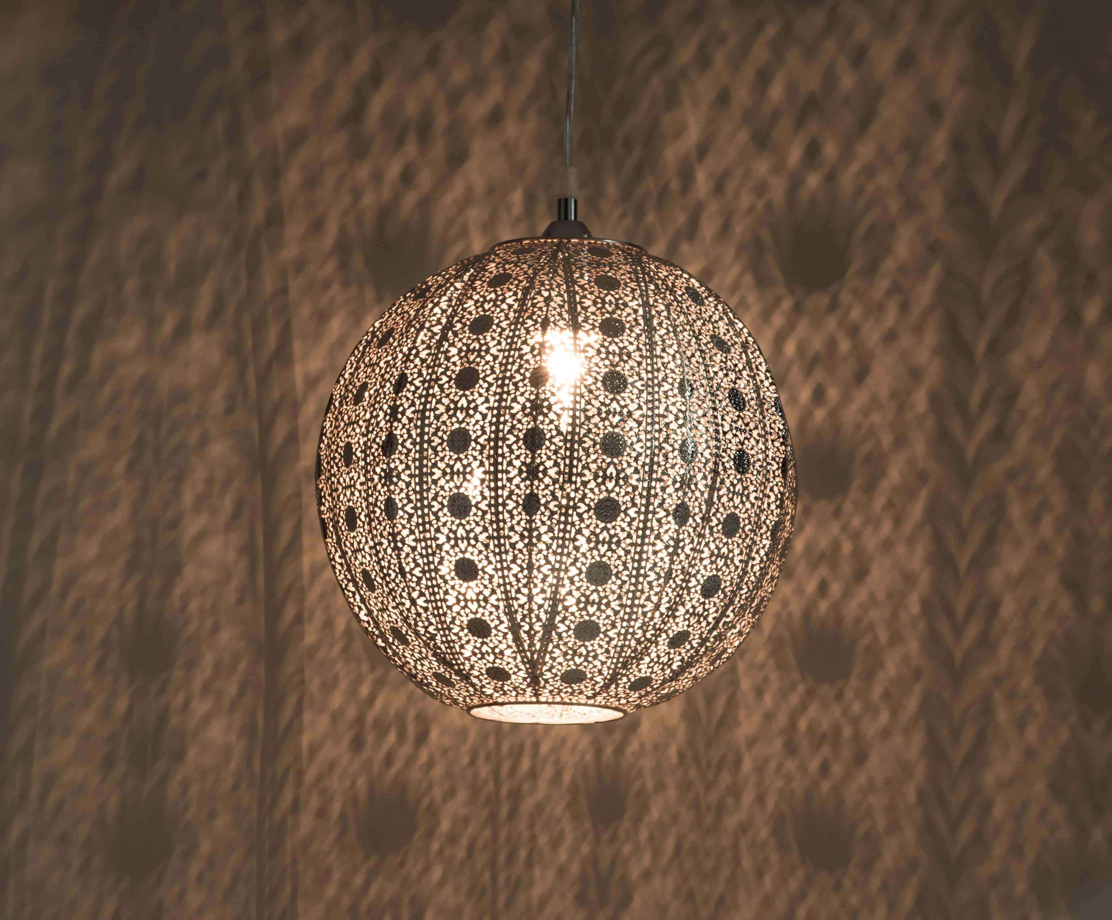 亮鎳蕾絲花邊圓形吊燈-BNL00076 1