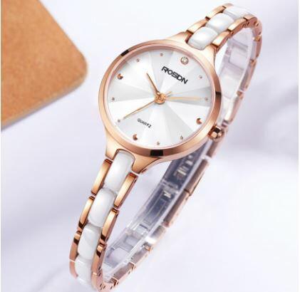 美琪 (簡約時尚)新款潮流防水薄세라믹陶瓷女錶石英錶쿼츠 시계