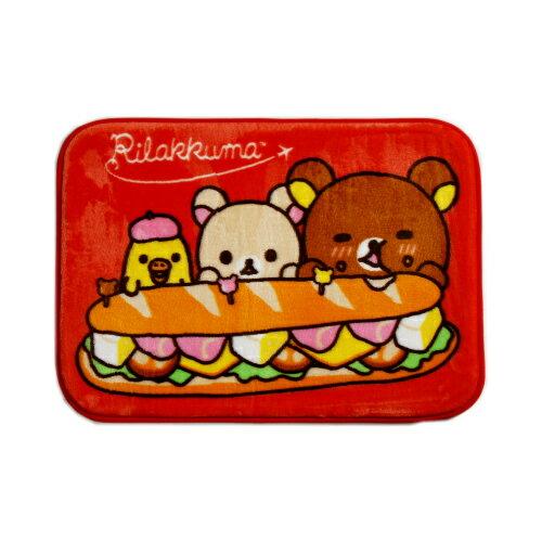 拉拉熊漢堡踏墊-紅色(65*45cm)【愛買】