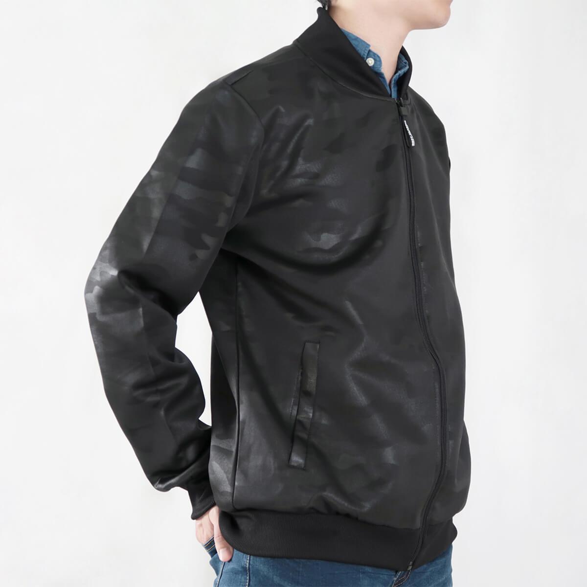 韓版迷彩飛行夾克 MA-1飛行外套 迷彩外套 空軍外套 輕量單層薄外套 MA-1 CAMOUFLAGE FLIGHT JACKET (321-8917-01)深藍色、(321-8917-02)黑色 3L 4L(胸圍48~51英吋) [實體店面保障] sun-e 1