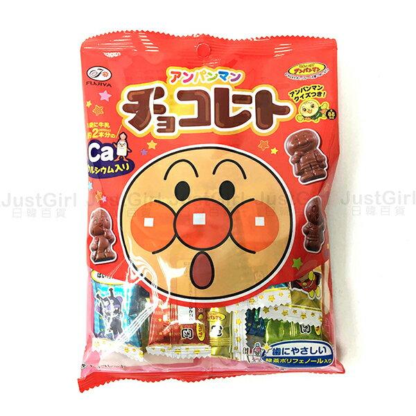 不二家 麵包超人 巧克力 細菌人 紅精靈 吐司超人 果醬爺爺奶油妹妹 68g 食品 日本製造進口 JustGirl
