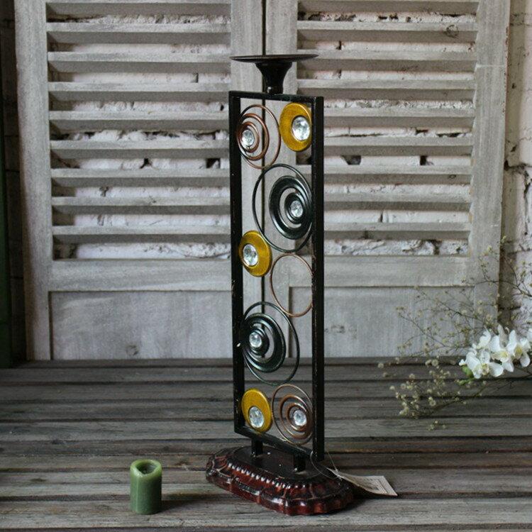 鐵藝現代家居婚慶婚禮浪漫 情人節餐廳攝影燭臺燭光晚餐道具1入