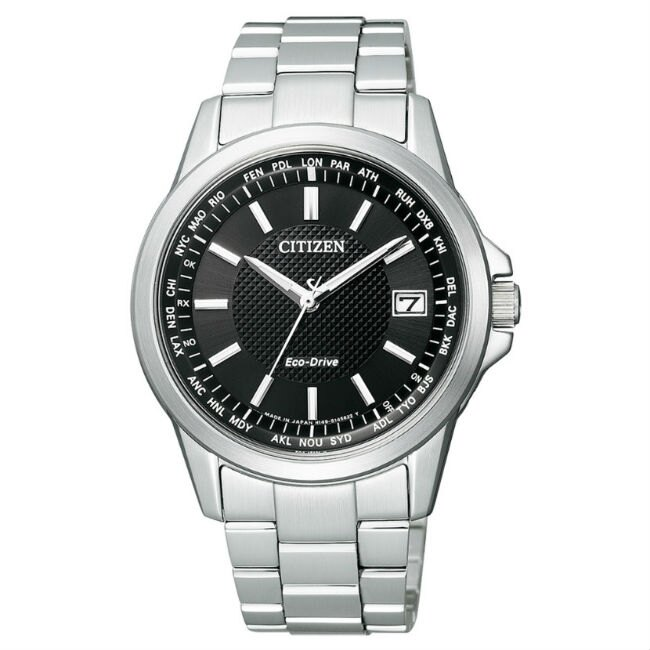 CITIZEN星辰錶 CB1090-59E都會簡約光動能電波腕錶/黑面39mm