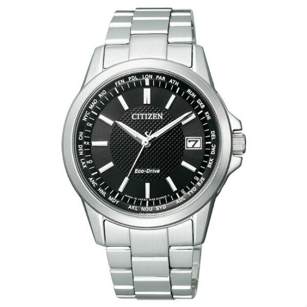 大高雄鐘錶城:CITIZEN星辰錶CB1090-59E都會簡約光動能電波腕錶黑面39mm