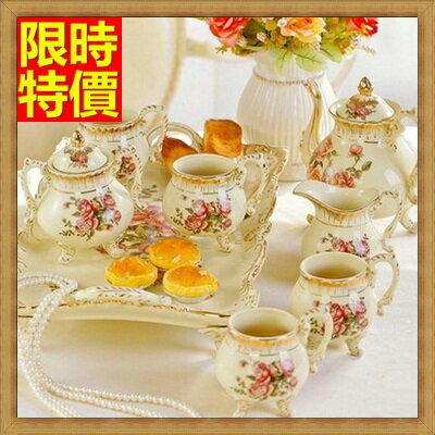 下午茶茶具 含茶壺+咖啡杯組合-4人高檔英式骨瓷茶具4色69g15【獨家進口】【米蘭精品】