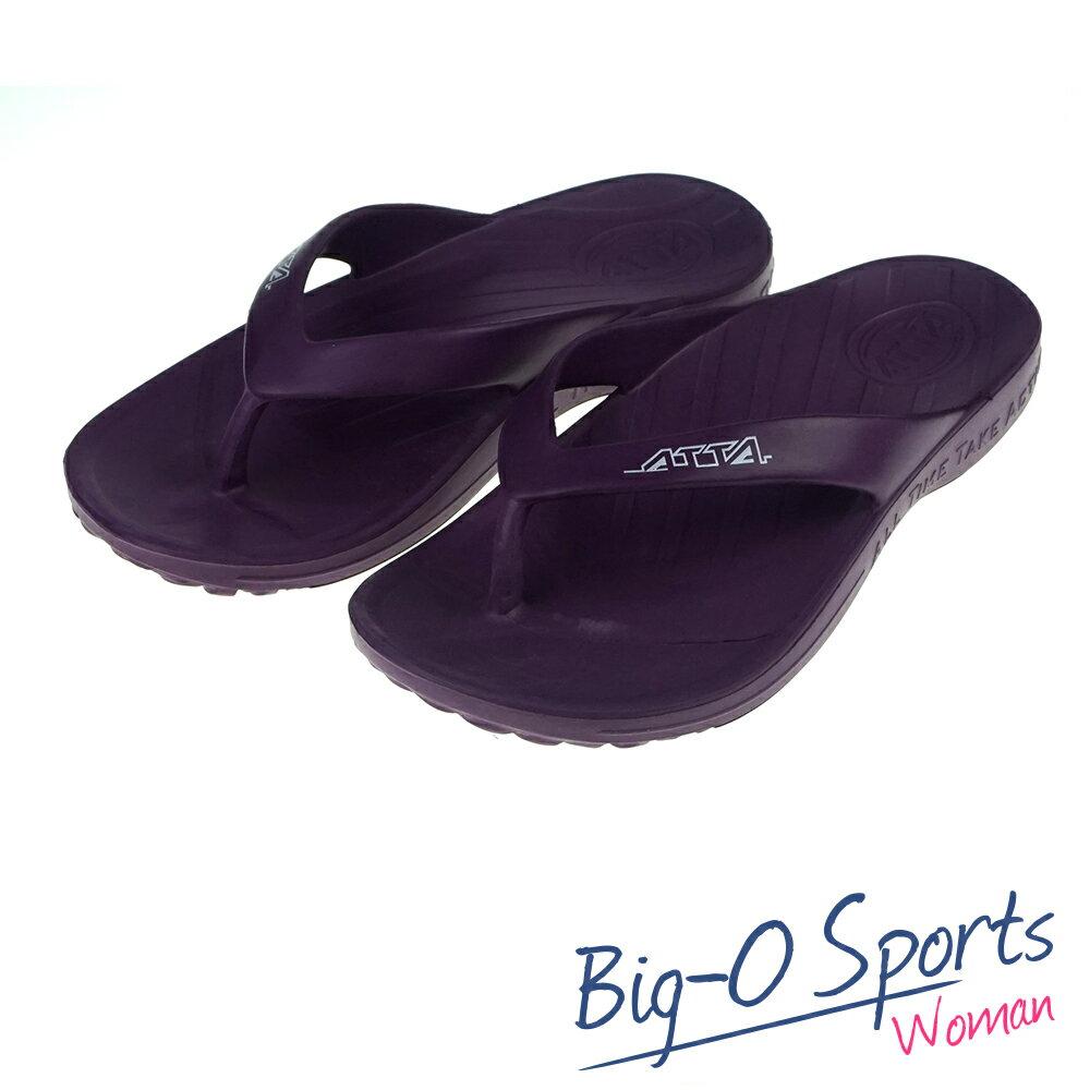 台灣製MIT  ATTA 運動夾腳拖鞋拖鞋 防水 1266890 Big-O Sports