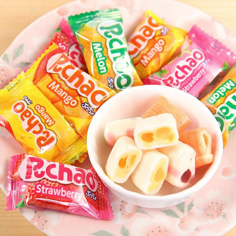 【UHA味覺糖】 Puccho噗啾3種類軟糖-綜合水果 90g 哈密瓜 / 芒果 / 草莓 日本進口糖果 3.18-4 / 7店休 暫停出貨 2