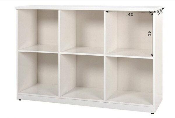 【石川家居】923-01白色六格置物櫃(CT-801)#訂製預購款式#環保塑鋼P無毒防霉易清潔