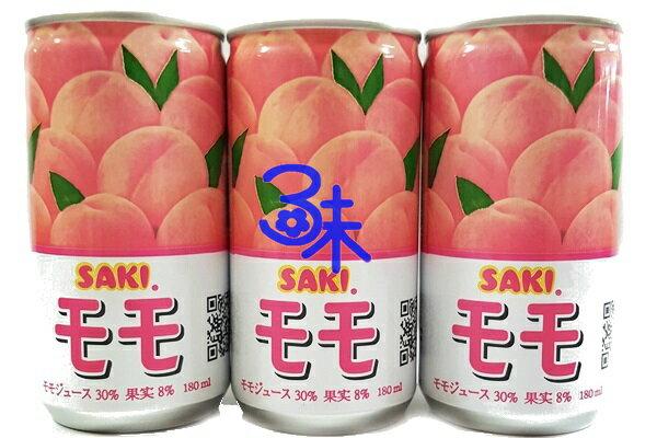 ^(韓國^) SAKI 水蜜桃汁 1組6罐 ^(180ml^~6罐^)  115 元 ^(
