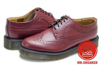 ☆Mr.Sneaker☆ Dr.Martens 3989 Cherry Red 馬汀 皮革 真皮 牛津鞋 雕花 復古 櫻桃紅 雅痞 紳士 英國