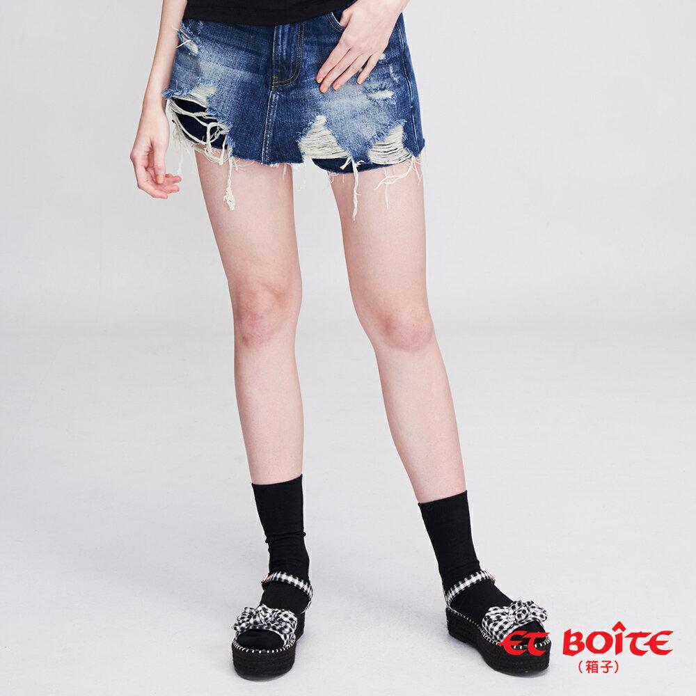 【19新品】個性刷破牛仔褲裙 - BLUE WAY  ET BOiTE 箱子 0