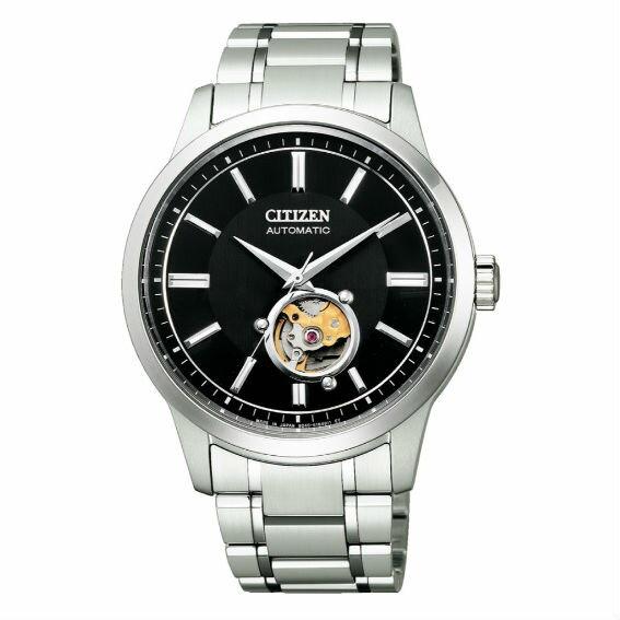 CITIZEN 星辰 NB4020-96E Mechanical 限量鏤空時尚機械腕錶 /黑面 41.3mm