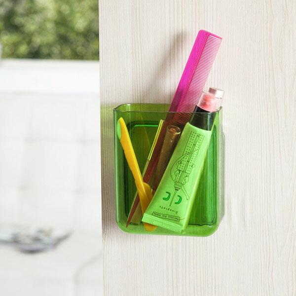 BO雜貨【SV6434】小款 3M強力粘膠壁掛式置物盒 免釘壁掛式儲物盒 手機架 辦公室 筆筒 牙刷架 廚房 浴室 收納