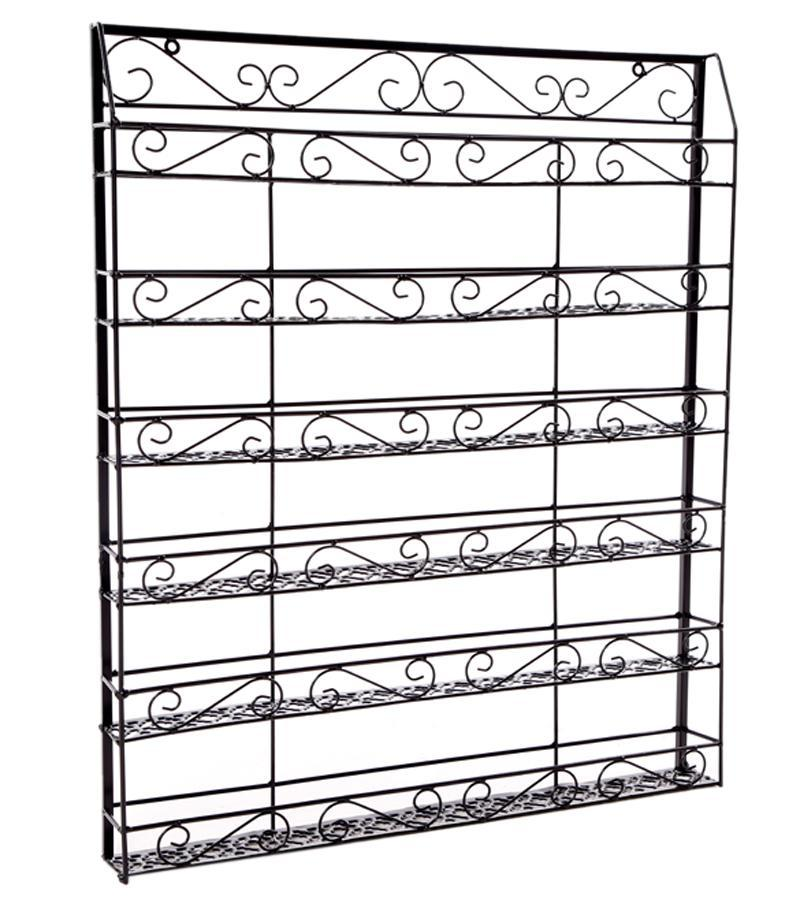Wire Display Organizer Metal Nail Polish Rack Black 1