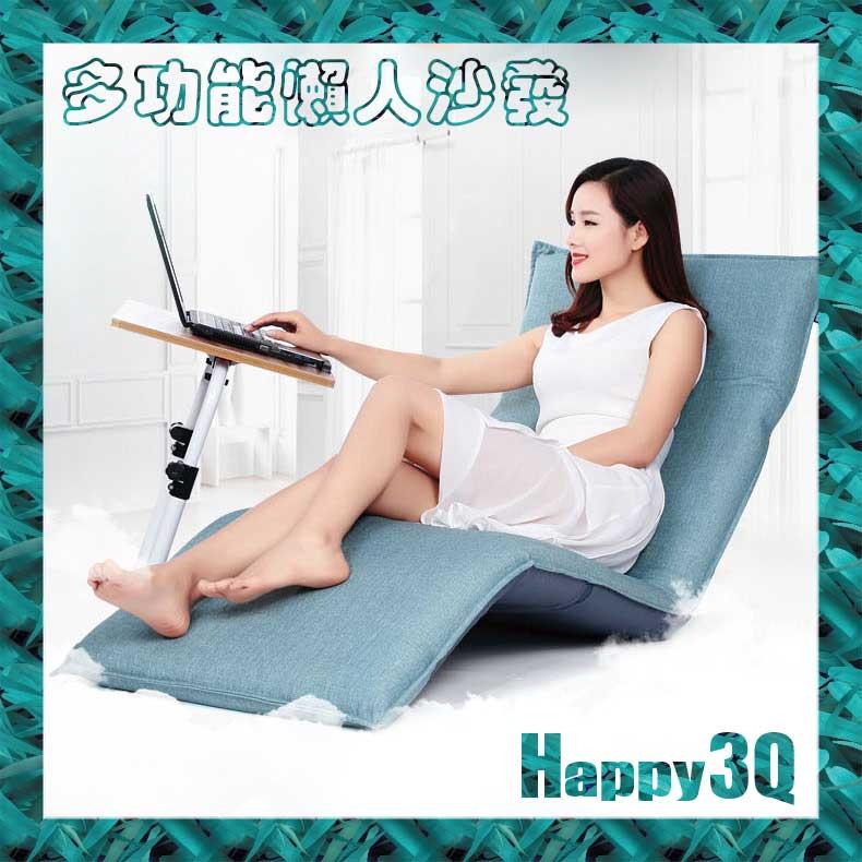 和室榻榻米摺疊床單人沙發床懶人椅~棕 藍 米~AAA0955~