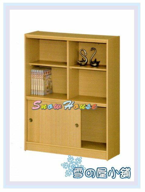 ╭☆雪之屋居家生活館☆╯AA554-04 B08-1白橡木書櫃(拉門式)/置物櫃/收納櫃/附活動隔板2片、玻璃2片