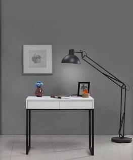 【尚品傢俱】JF-371-5微光3尺白色二抽書桌