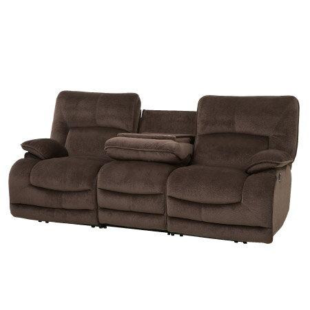 ◎布質3人用電動可躺式沙發 HIT DBR NITORI宜得利家居 2