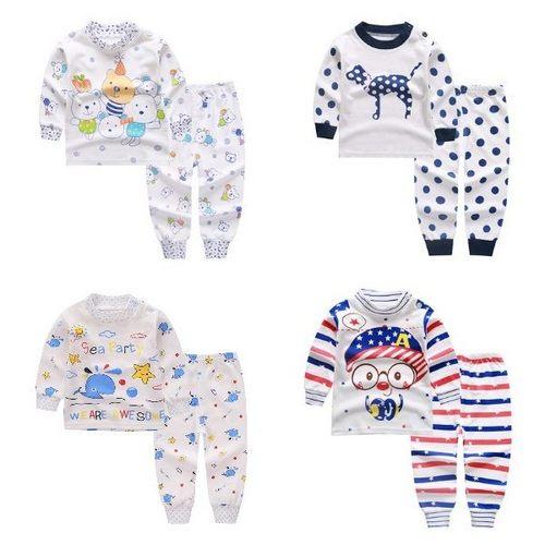 長袖套裝 棉質寶寶家居服 卡通動物嬰兒睡衣 HY10609 好娃娃