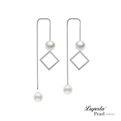大東山珠寶 燦爛光芒 日本AKOYA天然海水珍珠純銀耳環 雙珠耳線兩用款 0