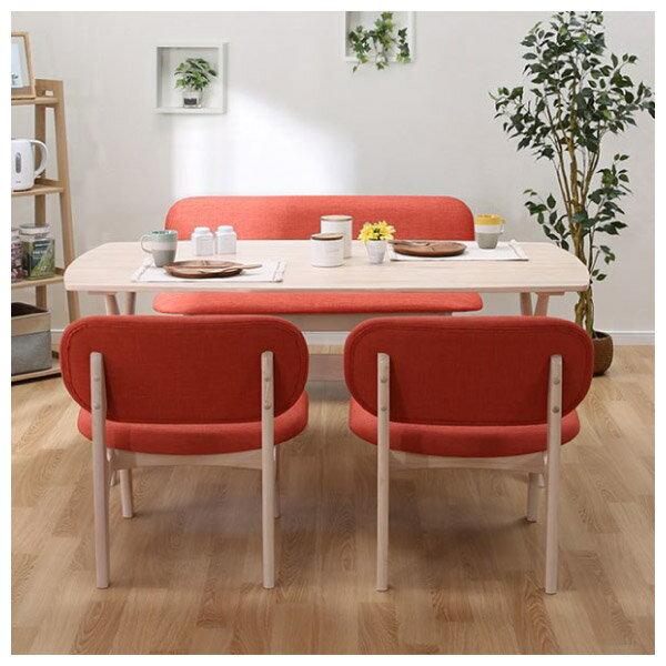 ◎實木餐桌椅四件組 RELAX WW / OR 橡膠木 NITORI宜得利家居 1