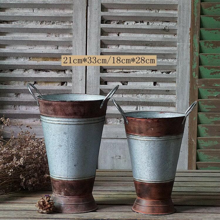 法式鄉村風格鐵藝花盆花桶花店裝飾多款可選櫥窗陳列攝影道具1入