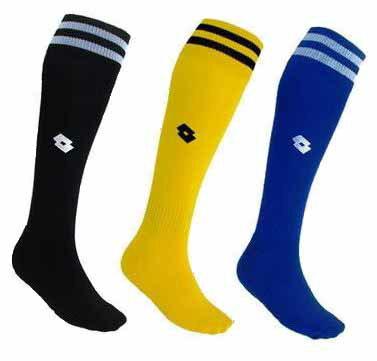 [陽光樂活=] LOTTO 義大利品牌 兒童 專業足球運動襪 (21~24cm) 黑/黃/藍
