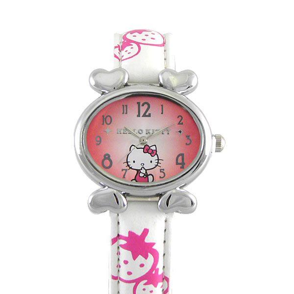 HelloKitty進口精品時尚手錶-悠閒心情(白)-HKFR540-01D
