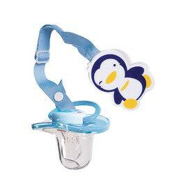 PUKU藍色企鵝 - 造型奶嘴鏈+初生安撫奶嘴 0