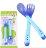 【省錢博士】軟頭湯匙 / 嬰兒叉匙餵食餐具2入 - 限時優惠好康折扣