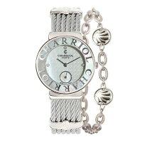 CHARRIOL夏利 珍珠扇貝 秒針鋼索腕錶 母貝