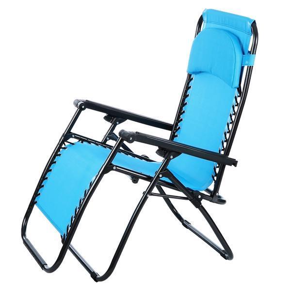 Folding Zero Gravity Reclining Lounge Portable Garden Beach Camping Outdoor Chair 1