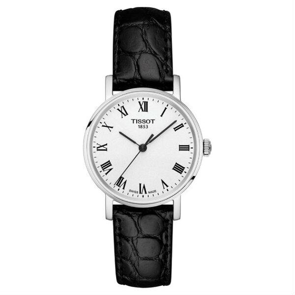 TISSOT天梭表T1092101603300Everytime經典時尚紳士石英腕錶黑+白30mm