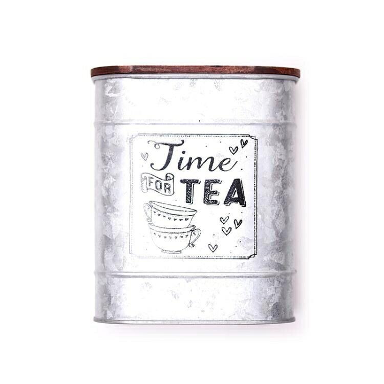 茶葉罐 大容量茶葉鐵罐磨砂鐵皮印花包裝金屬通用茶包裝 家家百貨