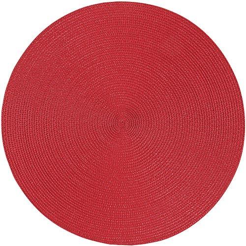 《NOW》素面織紋圓餐墊(赭紅)