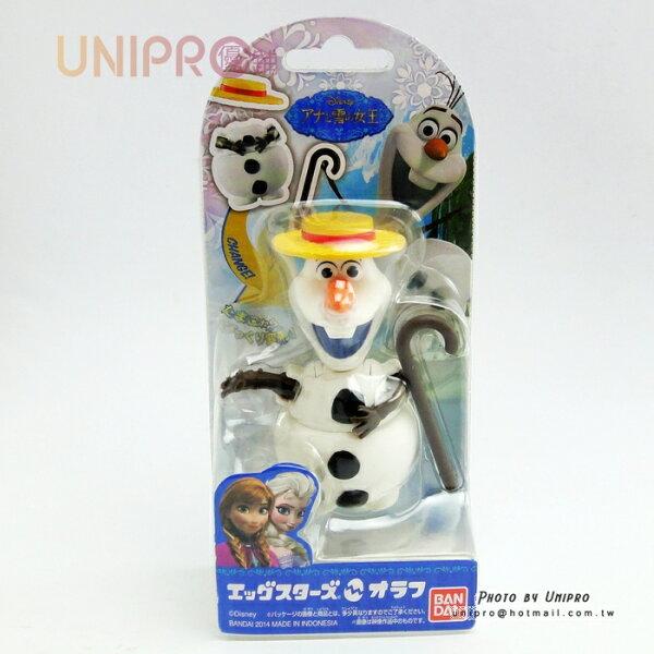 【UNIPRO】日貨迪士尼正版冰雪奇緣FROZEN雪寶Olaf公仔變形變身玩具玩偶禮物BANDAI