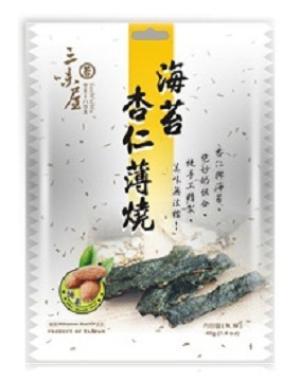 三味屋 海苔杏仁薄燒