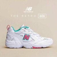 New Balance 美國慢跑鞋/跑步鞋推薦【New Balance】 608 粉綠 老爹鞋 復古鞋款