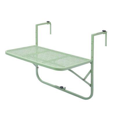 陽台懸掛桌 休閒陽台欄杆護欄掛桌金屬鐵藝懸掛桌可折疊『LM641』