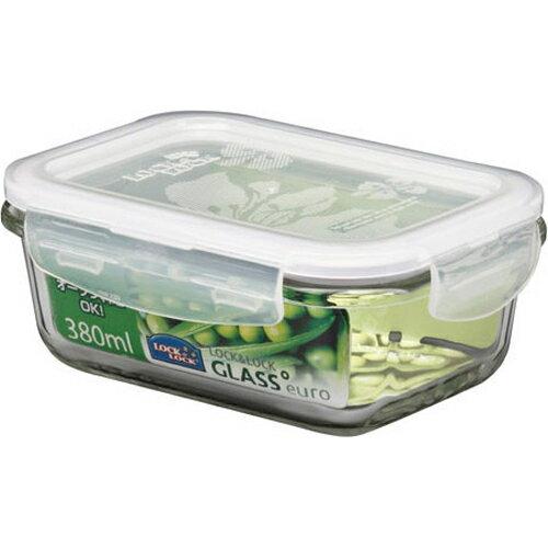 樂扣樂扣玻璃保鮮盒長方形380ML LLG422 樂扣玻璃保鮮盒 樂扣 耐熱玻璃保鮮盒