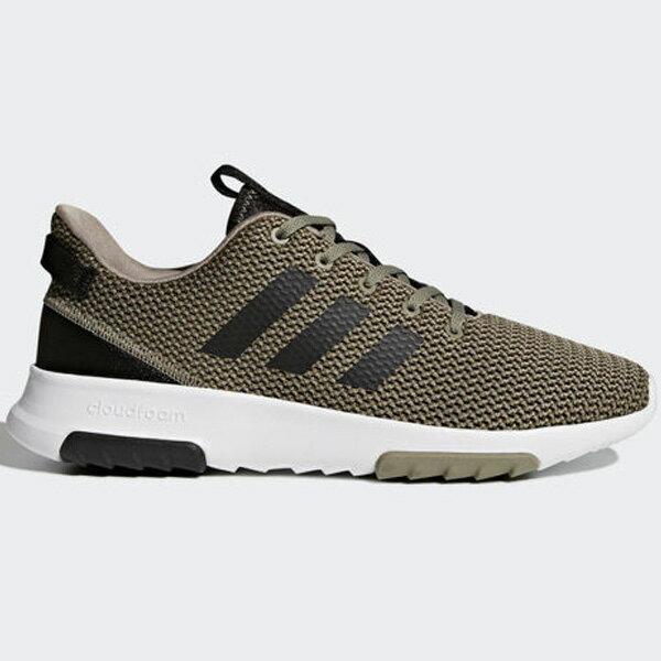 AdidasCFRacerTR男鞋慢跑休閒緩震墨綠黑白【運動世界】BC0020